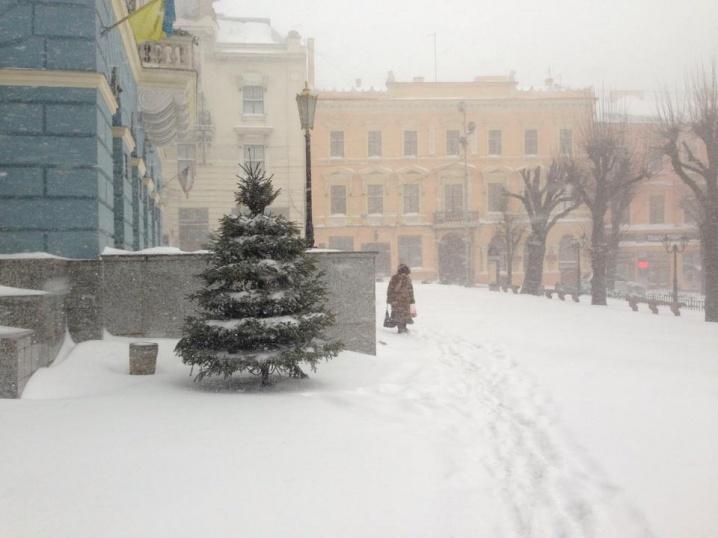 «Ні одна дорога не прочищена!», – чернівчани поділилися у соцмережах світлинами заметеного снігом міста