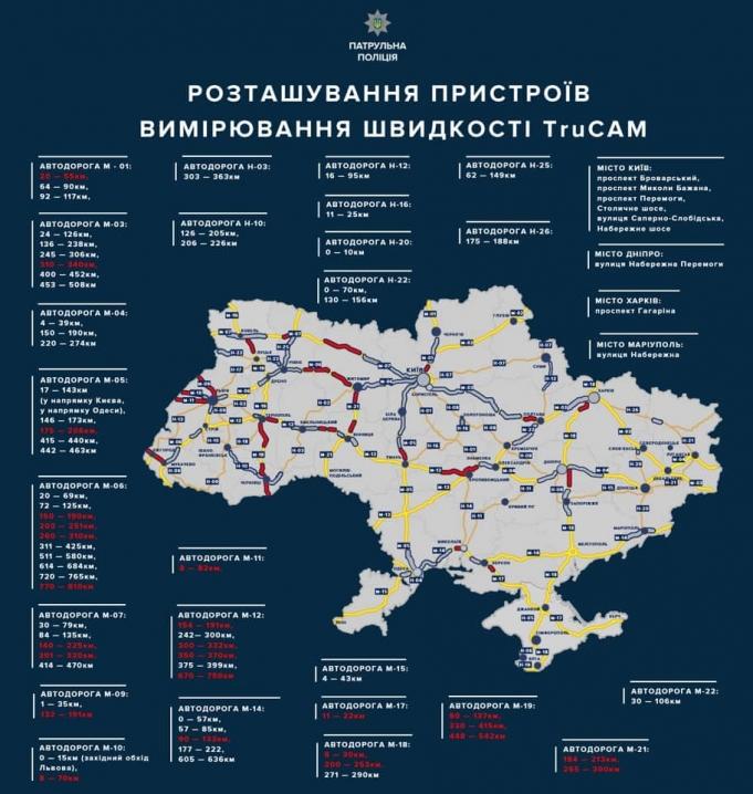 Відсьогодні на Буковині побільшало поліцейських із радаром TruCam