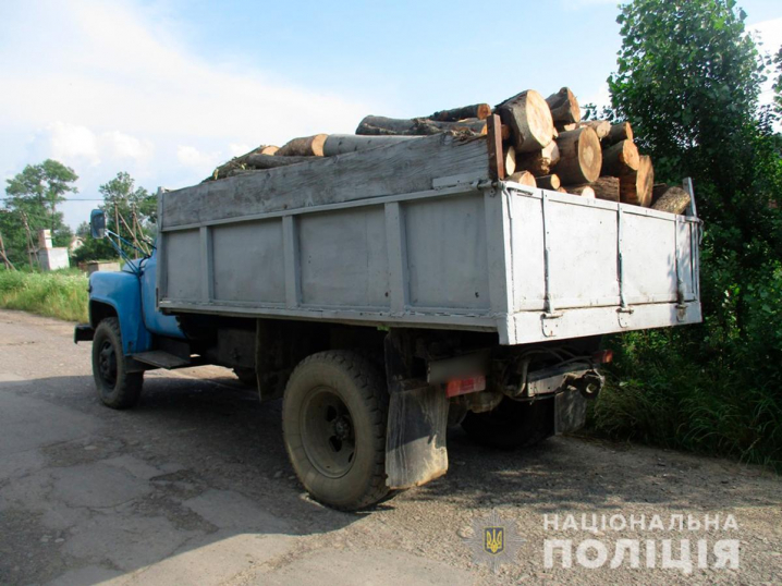 Поліцейські спинили чернівчанина, який без будь-яких документів перевозив деревину