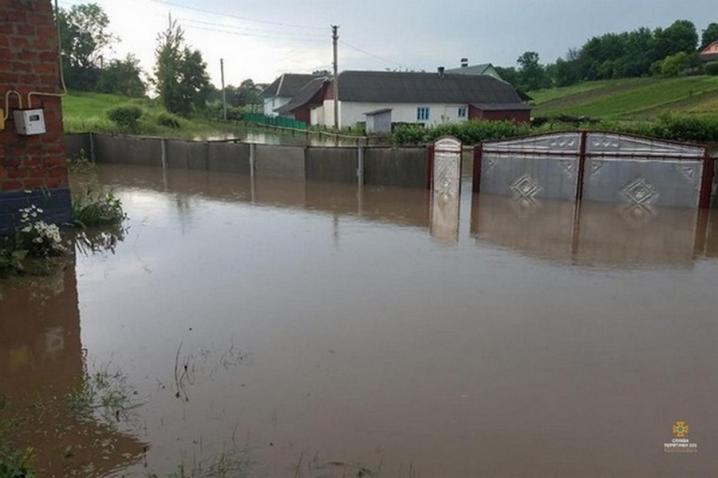 У сусідній Тернопільській області річка затопила село