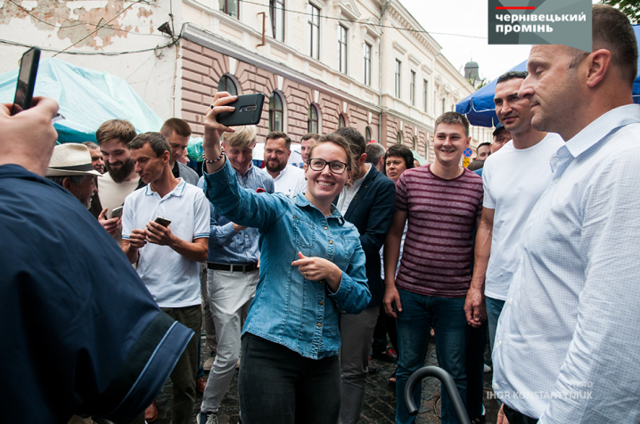 Віталій та Володимир Клички ярмаркували у Чернівцях разом з Оксаною Продан