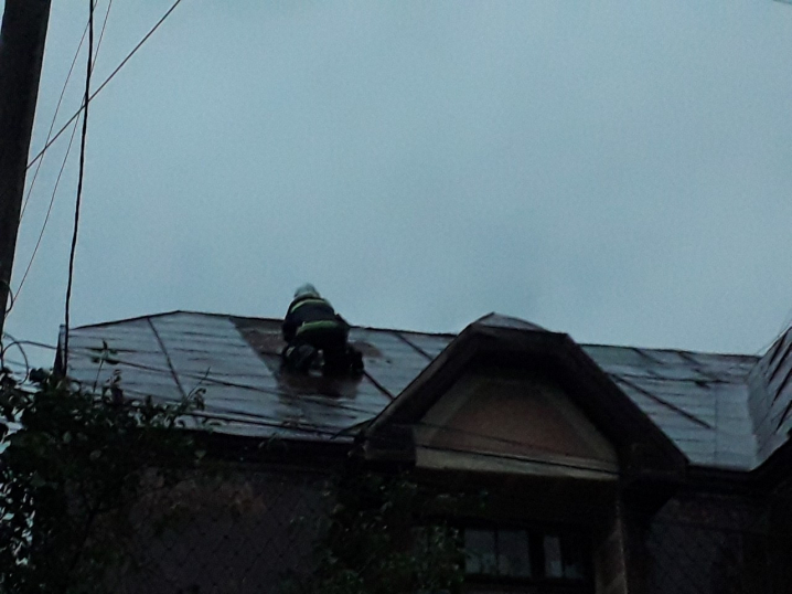 Перекривали дахи, відкачували воду, прибирали повалені дерева - рятувальники продовжують ліквідовувати наслідки негоди на Буковині
