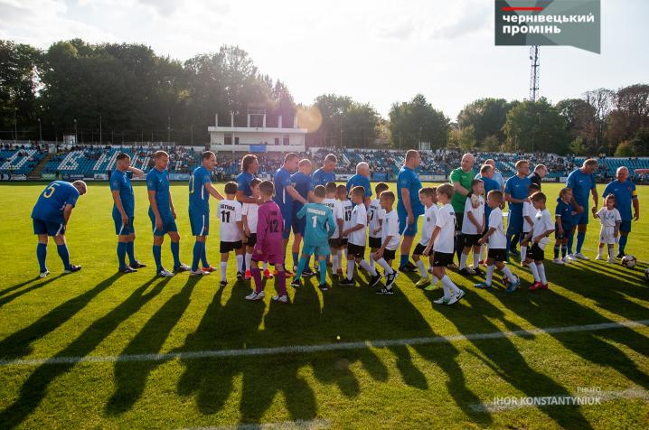 До Чернівців завітали футбольні зірки київського «Динамо»