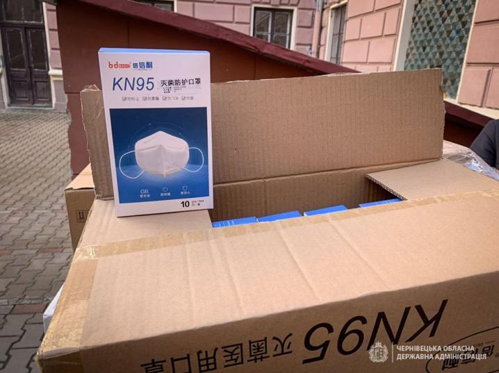 Чернівецька область отримала частину медичного вантажу, який привезли з Китаю