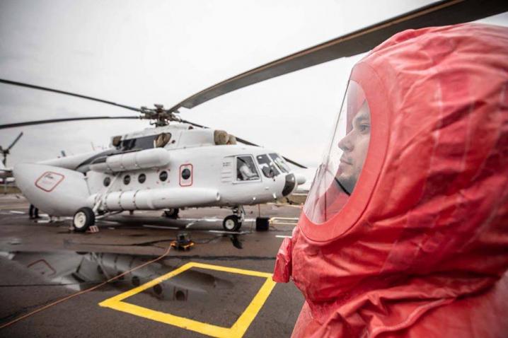 У Чернівецькій області на цілодобове чергування заступив санітарний вертоліт МВС
