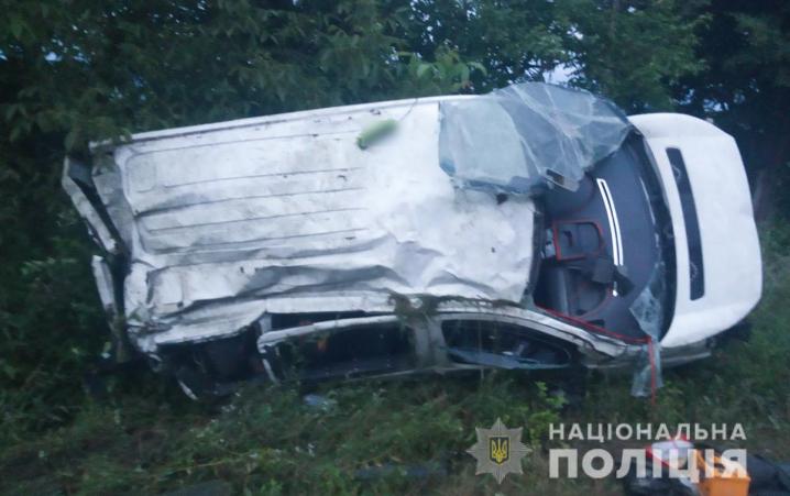 На Буковині водій не впорався з керуванням та допустив з'їзд з дороги