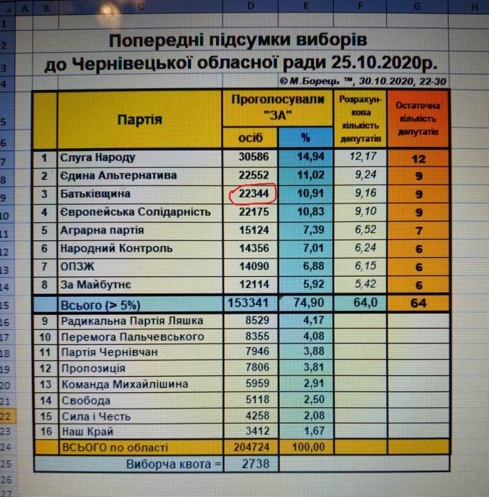 Перерахунок голосів на Буковині підтверджує масштабні фальсифікації