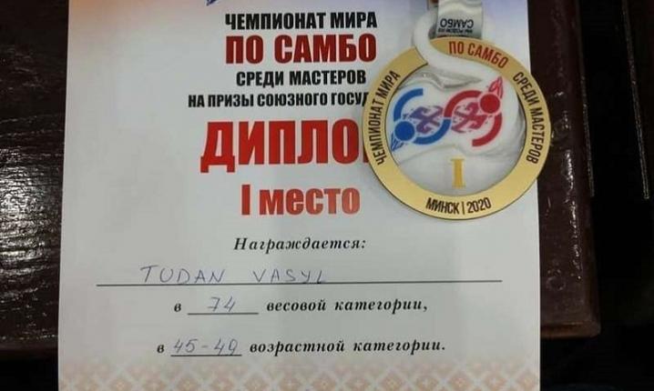 Буковинський спортсмен Василь Тудан став чемпіоном світу з боротьби самбо
