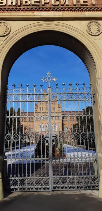«Виглядають краще, ніж до аварії»: в Чернівцях відновили ворота Чернівецького національного університету